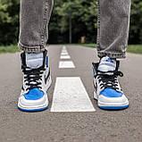 🔥 Кросівки чоловічі Air Jordan Retro 1 High x Fragment x Travis Scott, фото 7