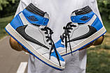 🔥 Кросівки чоловічі Air Jordan Retro 1 High x Fragment x Travis Scott, фото 4
