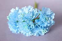 Цветы астры 72 шт. диаметр 3-3.5 см диаметр, голубого цвета оптом