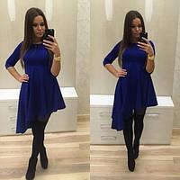 Красивое асимметричное платье в расцветках t-203862