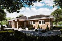МS18 - одноэтажный современный дом 133кв.м., фото 1