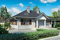 MS50 – строительство одноэтажного дома из газобетона 131кв.м., фото 1