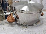 Набор кухонной посуды из нержавеющей стали 8 предметов OMS 1076-Brown, фото 7
