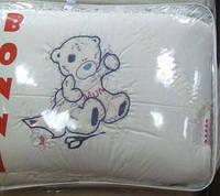"""Фирменный комплект постельного белья с балдахином. Вышивка """"Мишка вышивает Mama"""""""