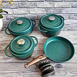 Набор посуды OMS 3049-Blue (Турция)  бирюзовый, фото 2
