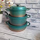 Набор посуды OMS 3049-Blue (Турция)  бирюзовый, фото 4