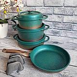 Набор посуды OMS 3049-Blue (Турция)  бирюзовый, фото 5