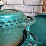 Набор посуды OMS 3049-Blue (Турция)  бирюзовый, фото 6