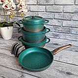 Набор посуды OMS 3049-Blue (Турция)  бирюзовый, фото 8