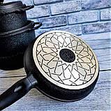 Набор посуды с антипригарным покрытием из 7-ми предметов черный OMS 3050-Black, фото 7