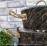 Набір посуду з антипригарним покриттям з 9-ми предметів OMS 3037-Gold, фото 6