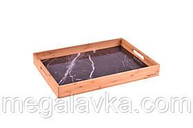 Піднос з бамбука 39,5х28х4,5см чорний (Туреччина) OMS 9101-M-Black