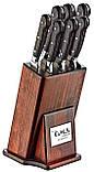 Набір ножів з нержавіючої сталі з дерев'яними ручками з 8 предметів OMS 6160ART, фото 2