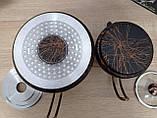 Чайник подвійний 1,2 / 2,5 л з антипригарним покриттям чорний / бронза (Туреччина) OMS 8204-L-Bronze, фото 5