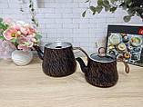 Чайник подвійний 1,2 / 2,5 л з антипригарним покриттям чорний / бронза (Туреччина) OMS 8204-L-Bronze, фото 6