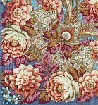 """Платок шерстяной с просновками и шелковой бахромой """"Именинница"""", вид 2, 146x146 см , фото 2"""