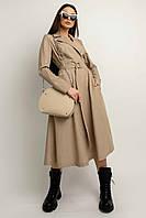 Повседневно-офисное платье Софи миди длины полуприлегающего силуэта 42-52 размер разные цвета