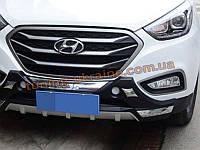 Накладка на бампер передняя Hyundai IX35 2013+