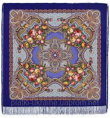 """Платок шерстяной с просновками и шелковой бахромой """"Любви желанная пора"""", вид 14, 146x146 см"""