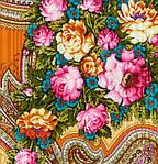 """Платок Павловопосадский шерстяной с просновками и шелковой бахромой """"Любви желанная пора"""", вид 16, 146x146 см , фото 3"""