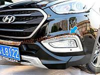 Хром галогенок (противотуманные фары) на Hyundai IX35 2013+