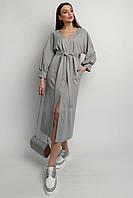 Интригующее повседневное платье Линда длиной миди прямого силуэта 42-56 размер разные цвета