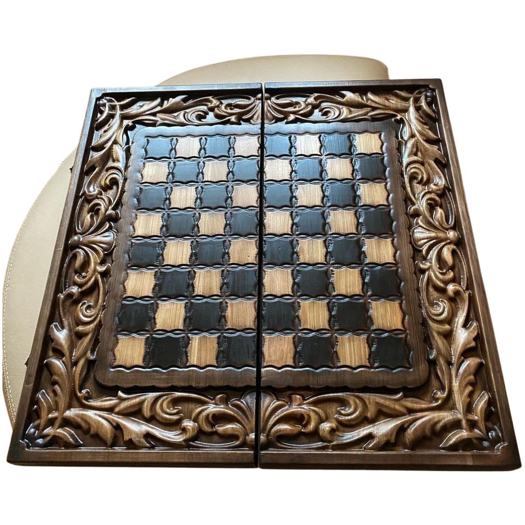 Ексклюзивні дерев'яні шахи нарди шашки, 58*28*9 см