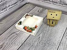 Коробка с окошком  12х12х3 см  цветная  10шт