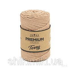Трикотажний еко-шнур Premium Yarns Terry, колір бежевий