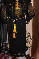 "Жіноче вишите плаття ""Чорне золото"""