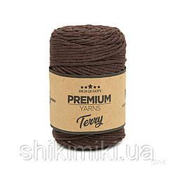 Трикотажний еко-шнур Premium Yarns Terry, колір коричневий