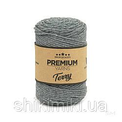 Трикотажний еко-шнур Premium Yarns Terry, колір сірий