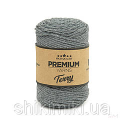 Трикотажный эко-шнур Premium Yarns Terry, цвет серый