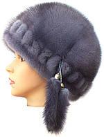 """Женская норковая  шапка модель """"конфетка резаная 1 ряд """""""