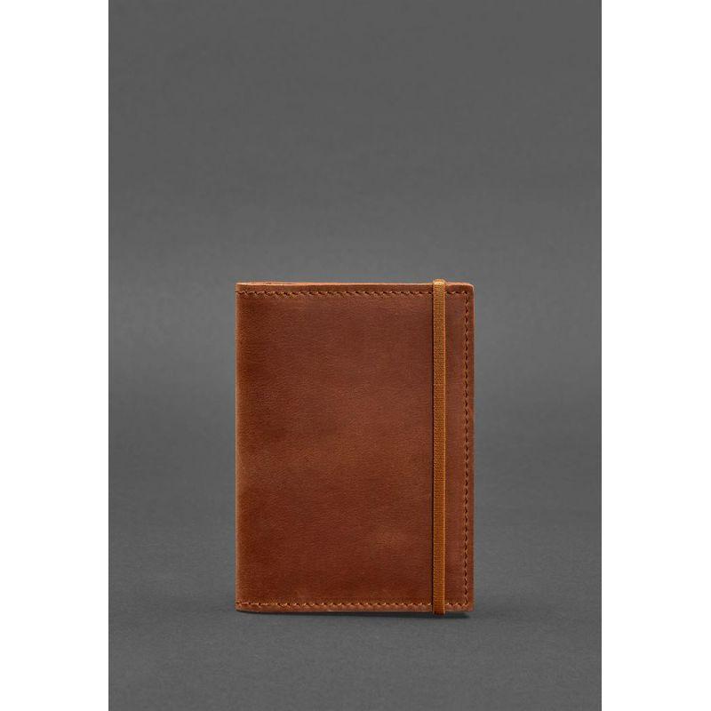 Шкіряна обкладинка для паспорта 2.0 світло-коричнева Crazy Horse