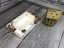 Коробка с окошком 10*15*3 мм цветная 10шт