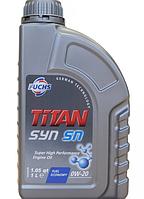 Синтетическое моторное масло TITAN (Титан) SYN SN 0W-20 1л.