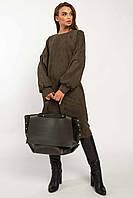 Универсальное повседневное платье Фридом прямого силуэта в стиле оверсайз 42-56 размер разные цвета