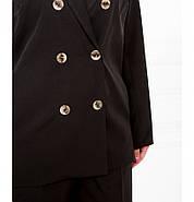 / Розмір 50-52.54-56,58-60 / оригінальний Жіночий костюм-двійка батал / 70158-1-Чорний, фото 2