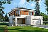 МS228 – это проект современного европейского дома со встроенным гаражом и террасой