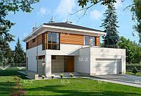 МS228 – это проект современного европейского дома со встроенным гаражом и террасой, фото 1