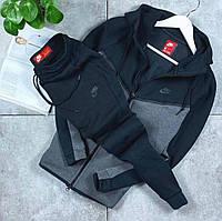 Мужской спортивный костюм Nike; черно-серый; м, л, хл, 2хл;