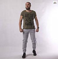 Мужские зимние спортивные штаны теплые серие трехнитка 48-56р
