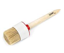 Кисть малярная Polax круглая деревянная ручка Стандарт №16 55мм (08-008)