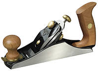 """Рубанок 112136 Stanley 50Х250 мм столярный """"Premium"""" № 4 регулировка окна ножа, утолщеный нож"""