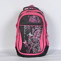 Рюкзак школьный Gorangd  для девочки - черный с розовым