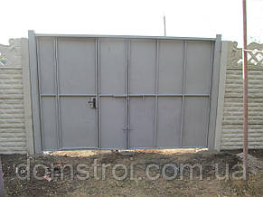 Ворота металлические распашные, фото 2