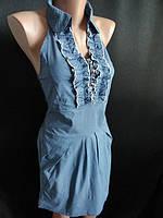 Молодежное платье с рюшами на воротнике, фото 1