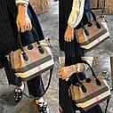 Кожаная сумка , решетчатые  ручная сумка,  сумка через плечо, фото 2