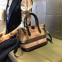 Кожаная сумка , решетчатые  ручная сумка,  сумка через плечо, фото 3